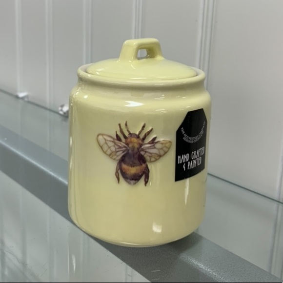 Bee Container - hand crafted and painted